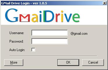 GMail Drive Login